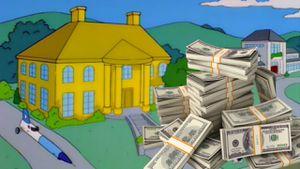 Los Simpson: ¿Cuánto cuesta una casa hecha de oro puro?