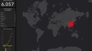 Sigue el brote en tiempo real: mapa muestra minuto a minuto cómo se expande el coronavirus en el mundo