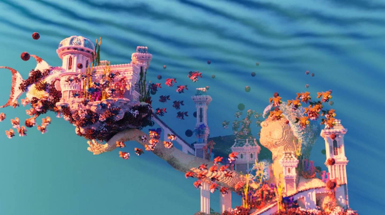Otro de los escenarios de Minecraft construidos por Sulikowski.