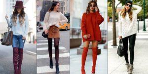 Looks elegantes y cómodos con suéter y botas para la temporada otoño-invierno