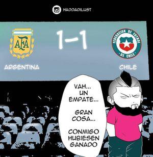 El cómic que se mofó de Arturo Vidal tras el empate entre la Roja y Argentina