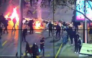 Marcha por los presos de la revuelta termina con incidentes en la Alameda
