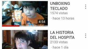 Tomy, un niño con cáncer en el cerebro, quiere ser un reconocido youtuber