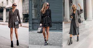 Cómo combinar vestidos y botines para un look femenino y casual