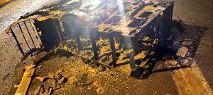 Intentaron robar cajero automático, pero se quemó todo el dinero en vía a la Costa, Guayaquil