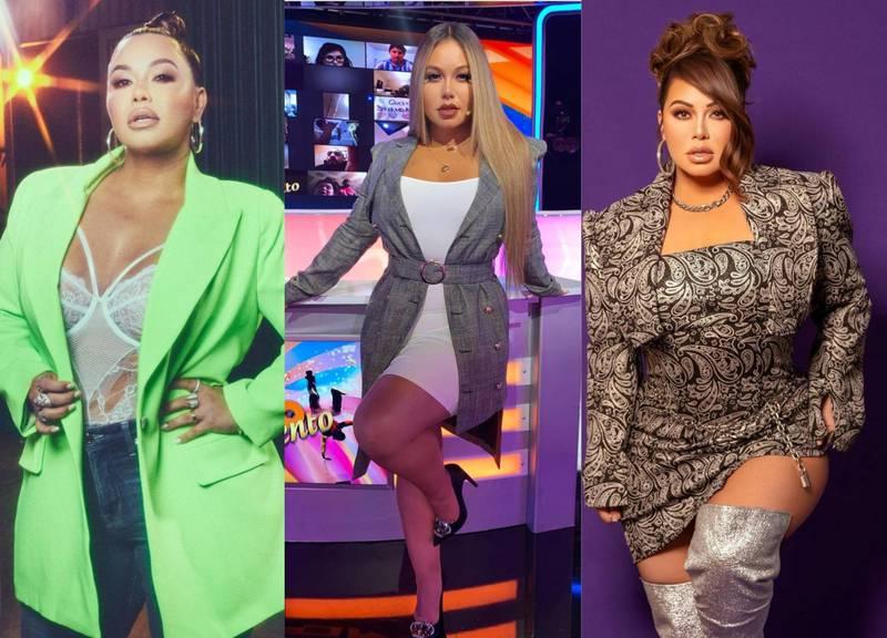 Los mejores outfits de Chiquis Rivera con blazers de colores y estampados
