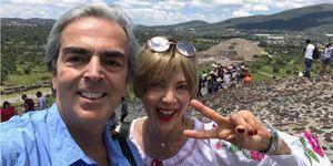 Lorenzo Lazo, viudo de Edith González, publica por primera vez en redes una foto junto a su novia
