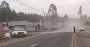 Volcán Sangay: los sectores más afectados por la caída de ceniza