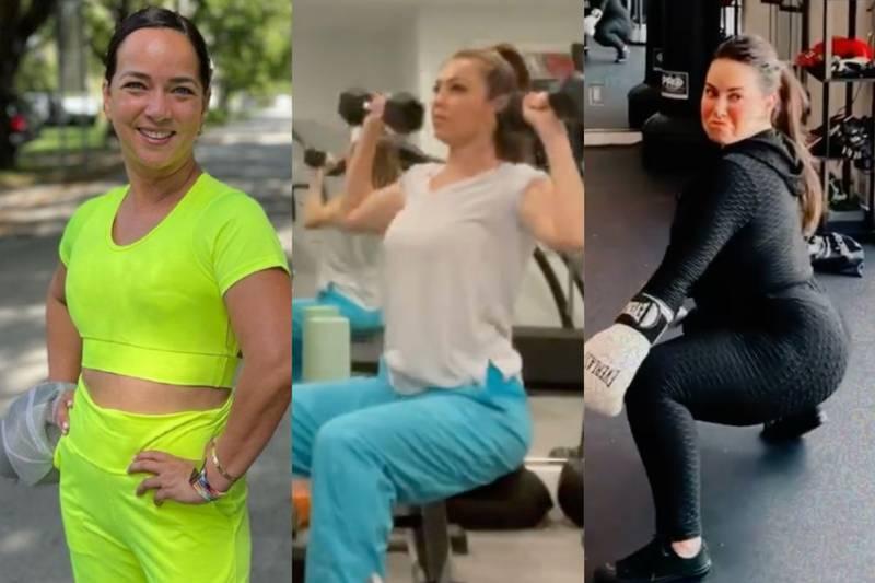 Los mejores outfits de Adamari López, Thalia y Chiquis Rivera para hacer ejercicio