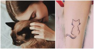 Tatuajes para las mujeres que aman los gatos y quieren llevarlos con ellas siempre