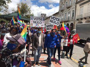 Yaku Pérez también cierra su campaña electoral por el Voto Nulo