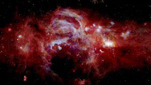 Científicos espaciales comparten sorprendentes imágenes de galaxias que lucen como explosiones de fuegos artificiales