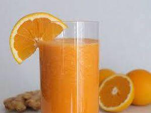 Jugo de naranja con jengibre para subir las defensas rápidamente