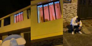 Video viral: Hombre lleva serenata a su pareja y la encuentra con otro