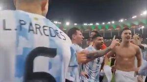"""Messi es un crack: rotundo y sutil """"no"""" a sus compañeros que quisieron burlarse de Brasil"""