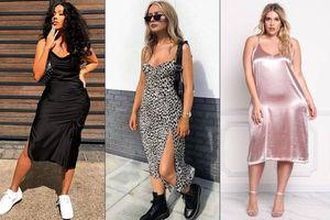 Formas de llevar slip dress, el sexy vestido que favorece a las chicas curvy