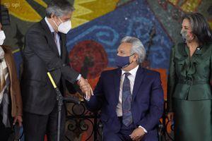 Transición de Gobierno: Primeras imágenes del encuentro entre Lenín Moreno y Guillermo Lasso