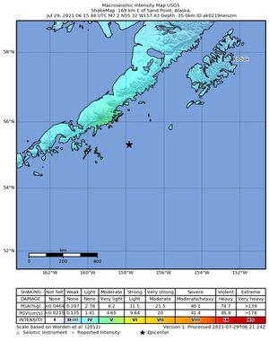 Impactantes imágenes que dejó el terremoto en Alaska