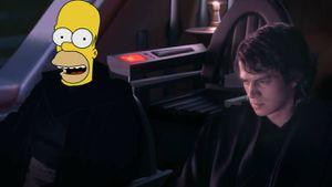 Los Simpson: Homero llega a Star Wars gracias a Inteligencia Artificial