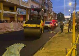 Supervisora de obra murió tras accidente con maquinaria pesada, en Manabí