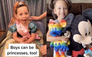 Este pequeño con autismo se disfraza de princesa como una forma de vivir libre y feliz