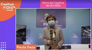 Paula Daza arrasó en los Copihue de Oro y junto a JC Rodríguez fueron elegidos como la Reina y el Rey de la premiación