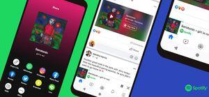 Oficial: Facebook presenta el reproductor mini de Spotify dentro de su plataforma