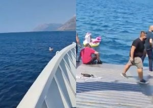 Encuentran a niña navegando en un inflable de unicornio en mar adentro