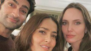 Salma Hayek hace una linda dedicatoria a su amiga Angelina Jolie