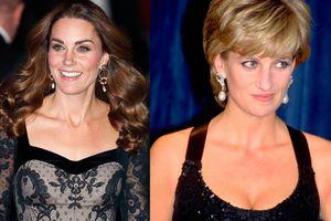 Kate Middleton copia look clásico y elegante de Lady Di en su última aparición y luce hermosa