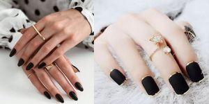Los mejores diseños de uñas oscuras que puedes llevar para lucir elegante y a la moda este invierno