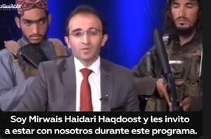 Video: presentador rodeado de talibanes armados en vivo tras asalto