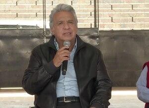 """""""No permitiremos ningún tipo de desmán"""": Presidente Lenín Moreno ejerció su derecho al voto en la segunda vuelta"""