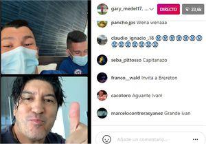 Gary Medel se luce en Instagram: notable live con Suazo, Zamorano y Pinilla