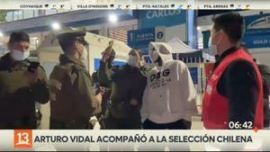 Carabineros le pidieron fotos a Arturo Vidal en San Carlos de Apoquindo